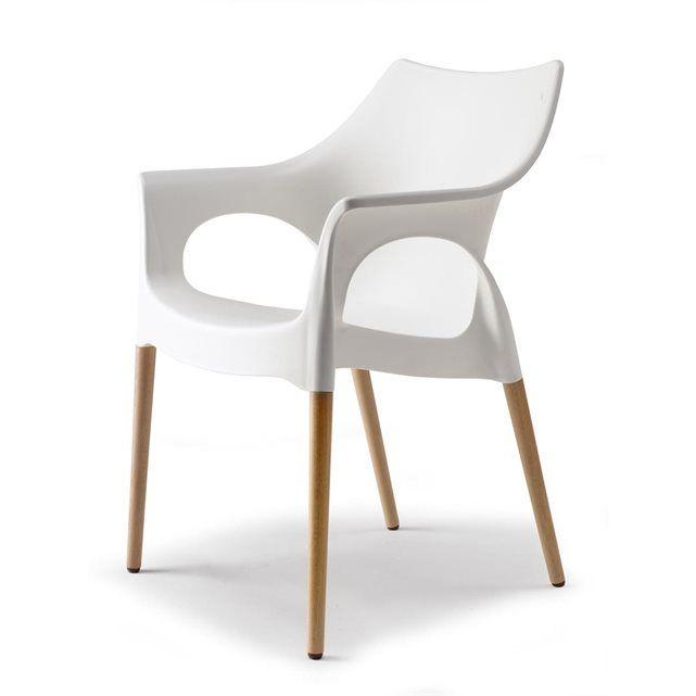 Chaise Natural Ola design par Scab   Concave