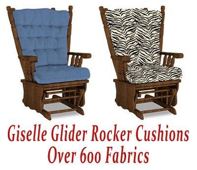 Nice Replacement Glider Rocker Cushions For Giselle Chair