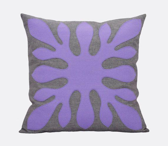Purple And Gray Decorative Pillows : Purple Pillow Grey Purple Decorative Hawaiian by Pillowation Handmade Pillows Pinterest ...