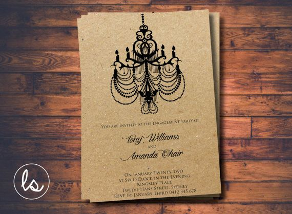 Gatsby Invitation Engagement Glitz And Glam 1920s Wedding Printed Invitations DIY PRINTABLE