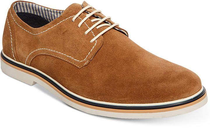 Steve Madden Men's Frick Suede Plain-Toe Lace-Up Oxfords Men's Shoes ZTohJw
