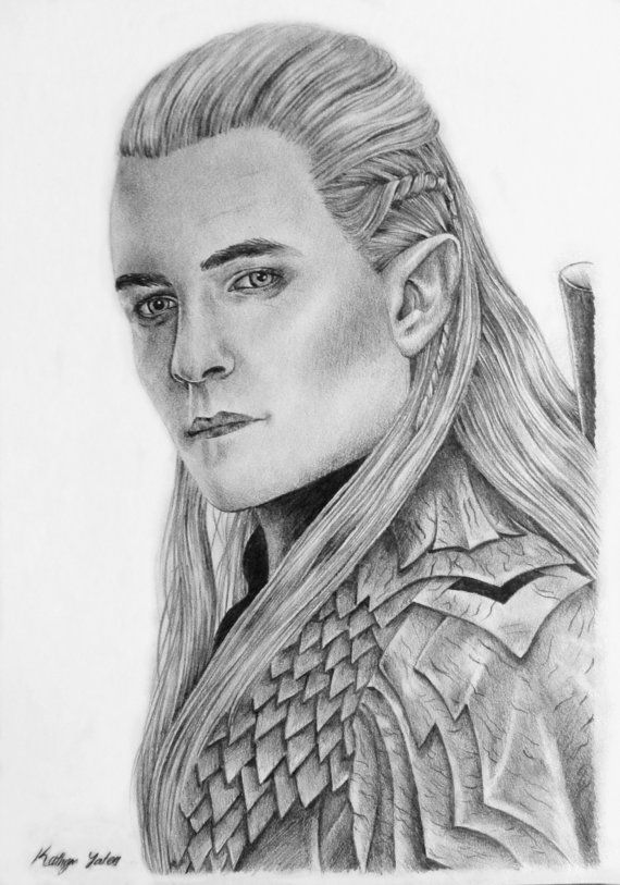 Legolas The Lord of the rings The hobbit by KathrynLisa on Etsy ...