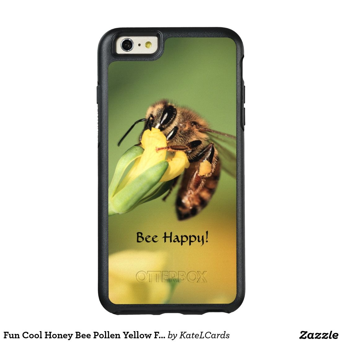 Fun Cool Honey Bee Pollen Yellow Floral Custom OtterBox iPhone 6 6s Plus  Case 384e2366a