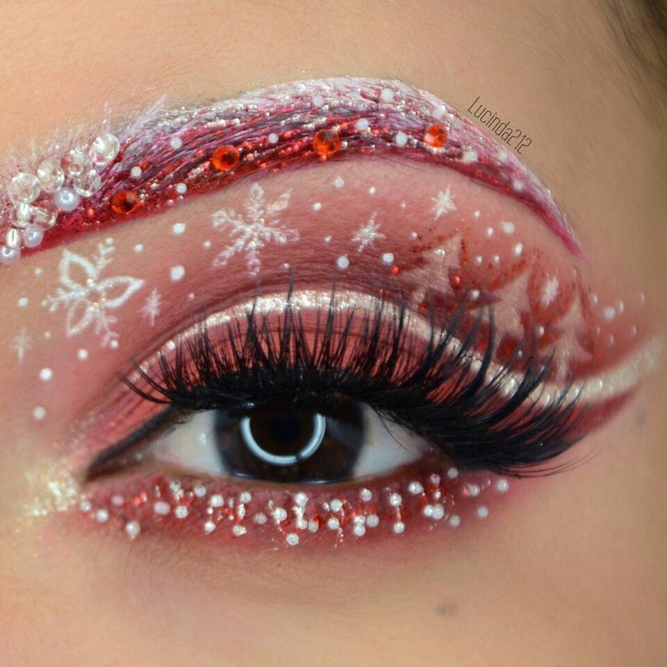 Pin by Janey Hernandez on eyes Christmas eye makeup