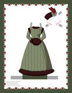 Paper Doll School: December Paper Doll -- Mrs Claus Paper Doll, Outfit 15