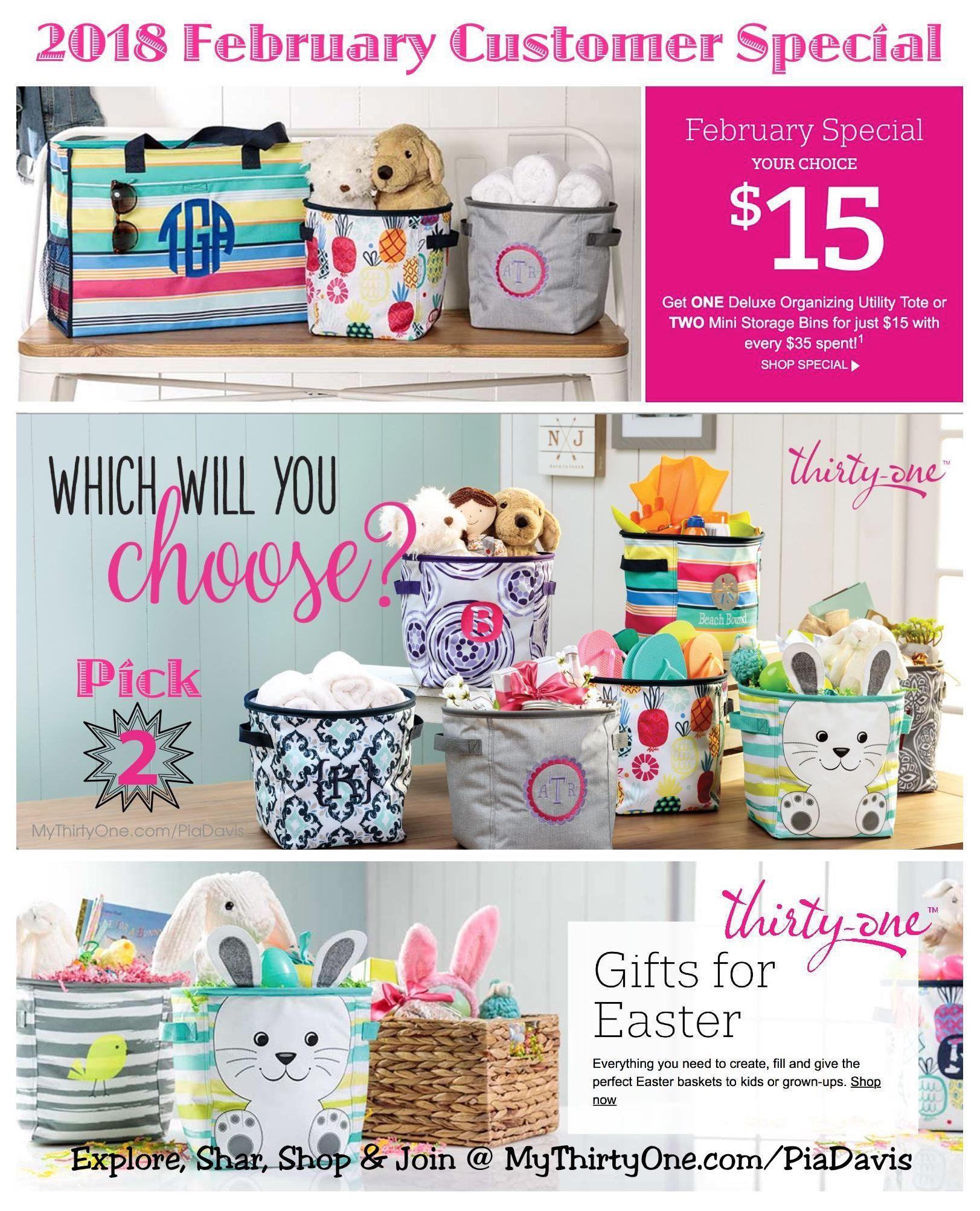 31 2018 Thirty One Gifts February Customer Special Get