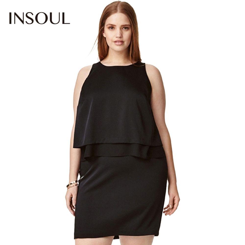 5e777e2fa977 Click to Buy    INSOUL Plus Size Off Shoulder Mini Dress Women Clothing.