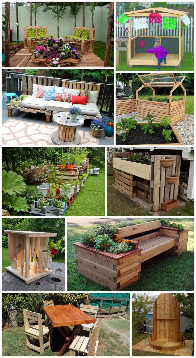 Ideen für die kreative Nutzung von Holzpaletten im Garten ...