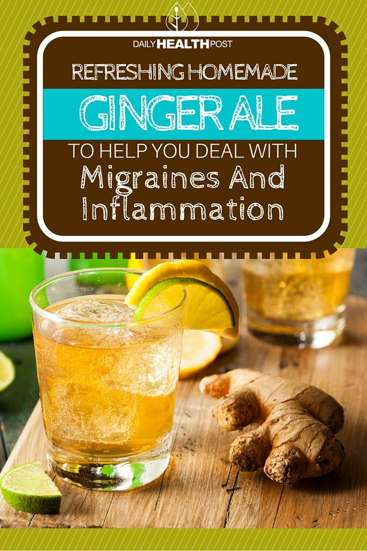 refreshing homemade ginger ale to help you deal with migraines and