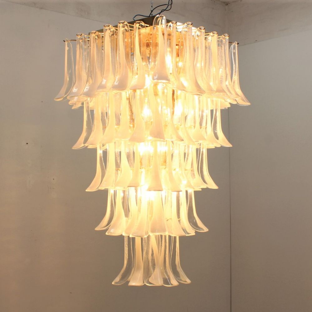 For sale: Huge Vintage La Murrina chandelier with 100 Murano glass ...
