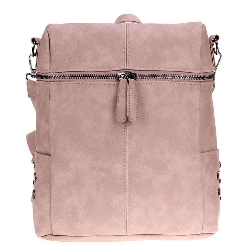 2fde04ba9d Simple Style Women PU Leather Backpacks For Teenage Girls School Bags  Fashion Vintage Solid Shoulder Bag Pink Mochila Rucksack   Price   26.98    FREE ...