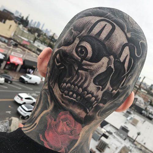 101 Best Skull Tattoos For Men Cool Designs Ideas 2019 Guide Skull Tattoo Design Head Tattoos Skull Tattoo