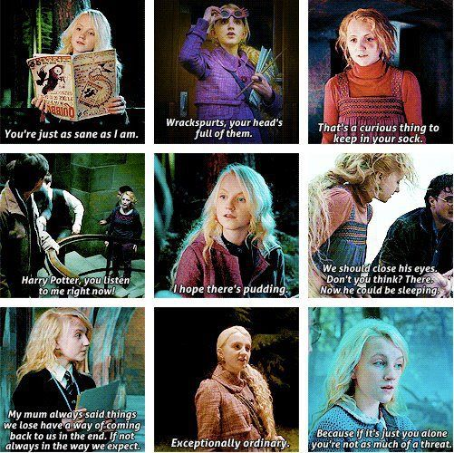 Luna Lovegood Quotes New Luna Lovegood I Can't Read These Without Hearing Evanna Lynch's