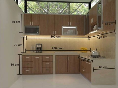 You Need The Right Measurements For Standard Kitchen Layouts Architecture Lemari Dapur Ide Dapur Dapur