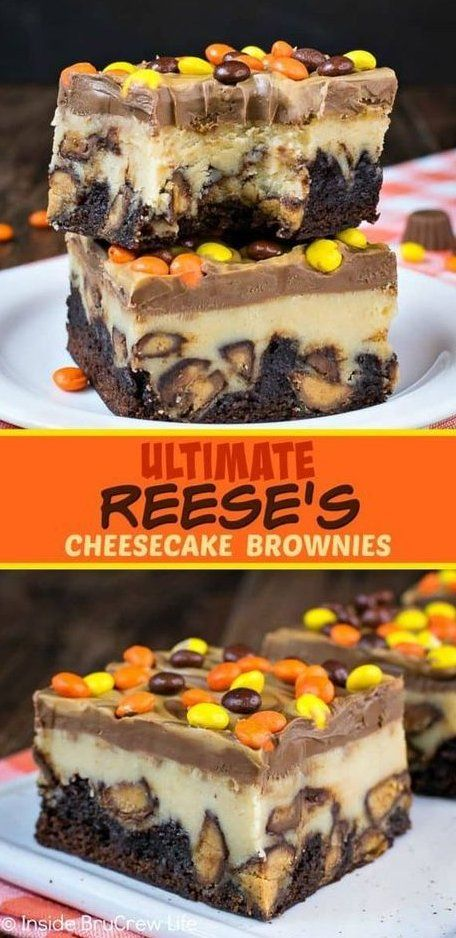 Ultimate Reese's Cheesecake Brownies - Swirls Of Peanut Butter And ! käsekuchen - brownies von ult