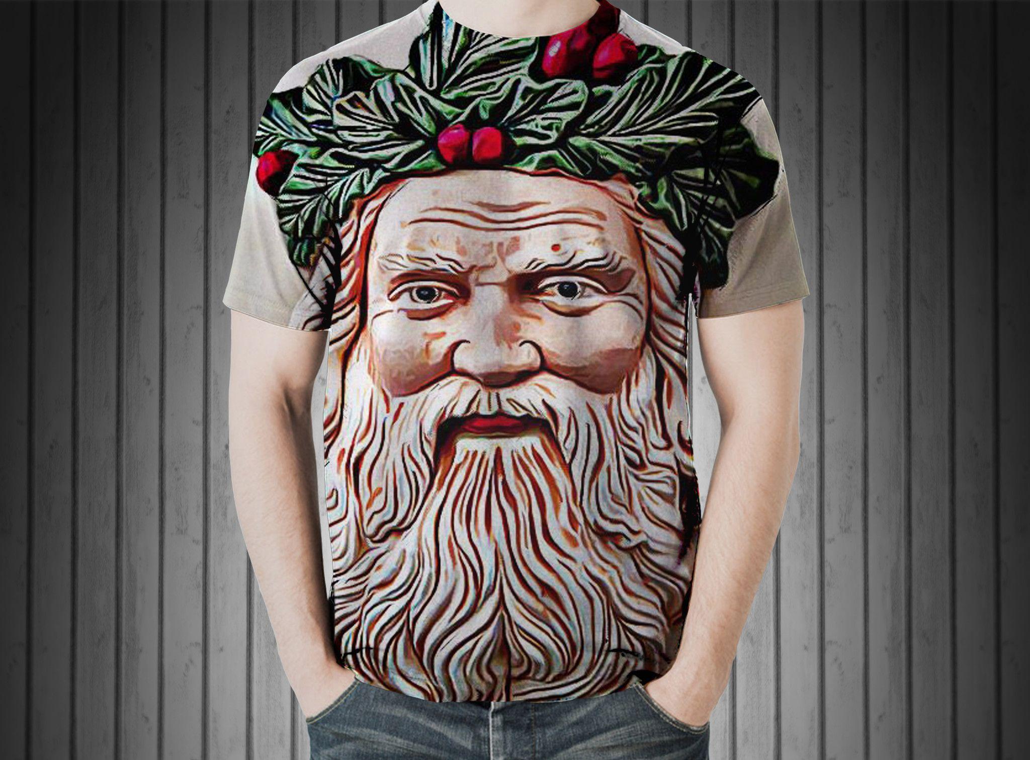 T-Shirt - Santa christmas holly season merry