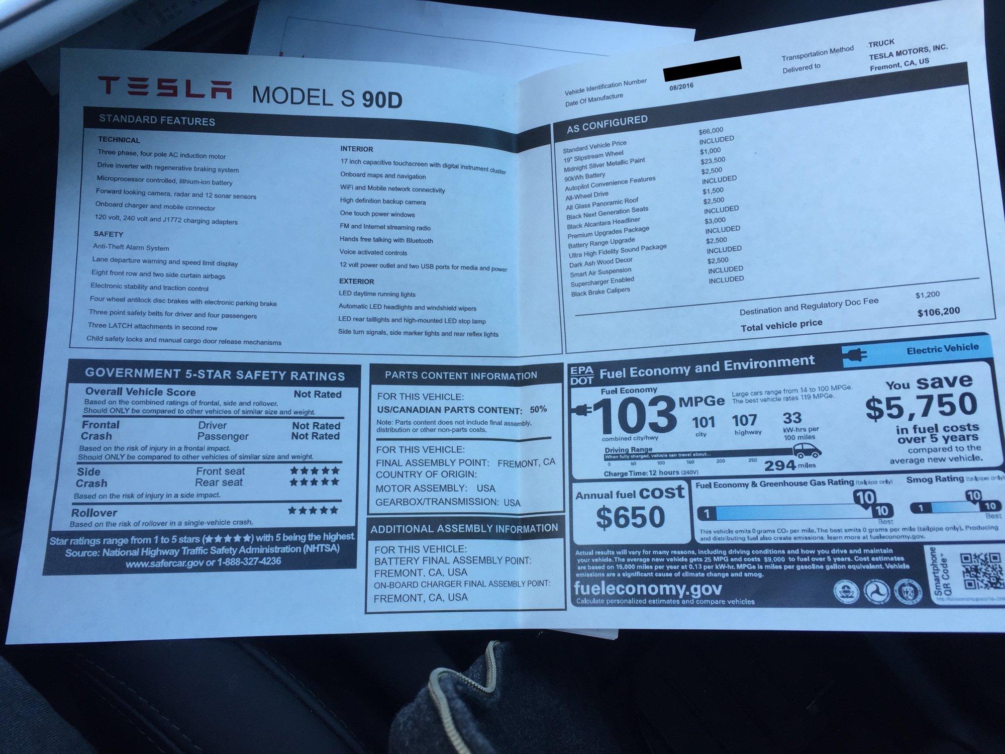 Tesla Motors Club >> 2016 S90d Refresh For Sale Tesla Motors Club Tesla Tesla For