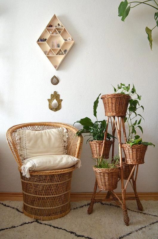 Etsy trends to get excited about vintage rattan finds bohohomedecor  home decor also international summer boho rh pinterest