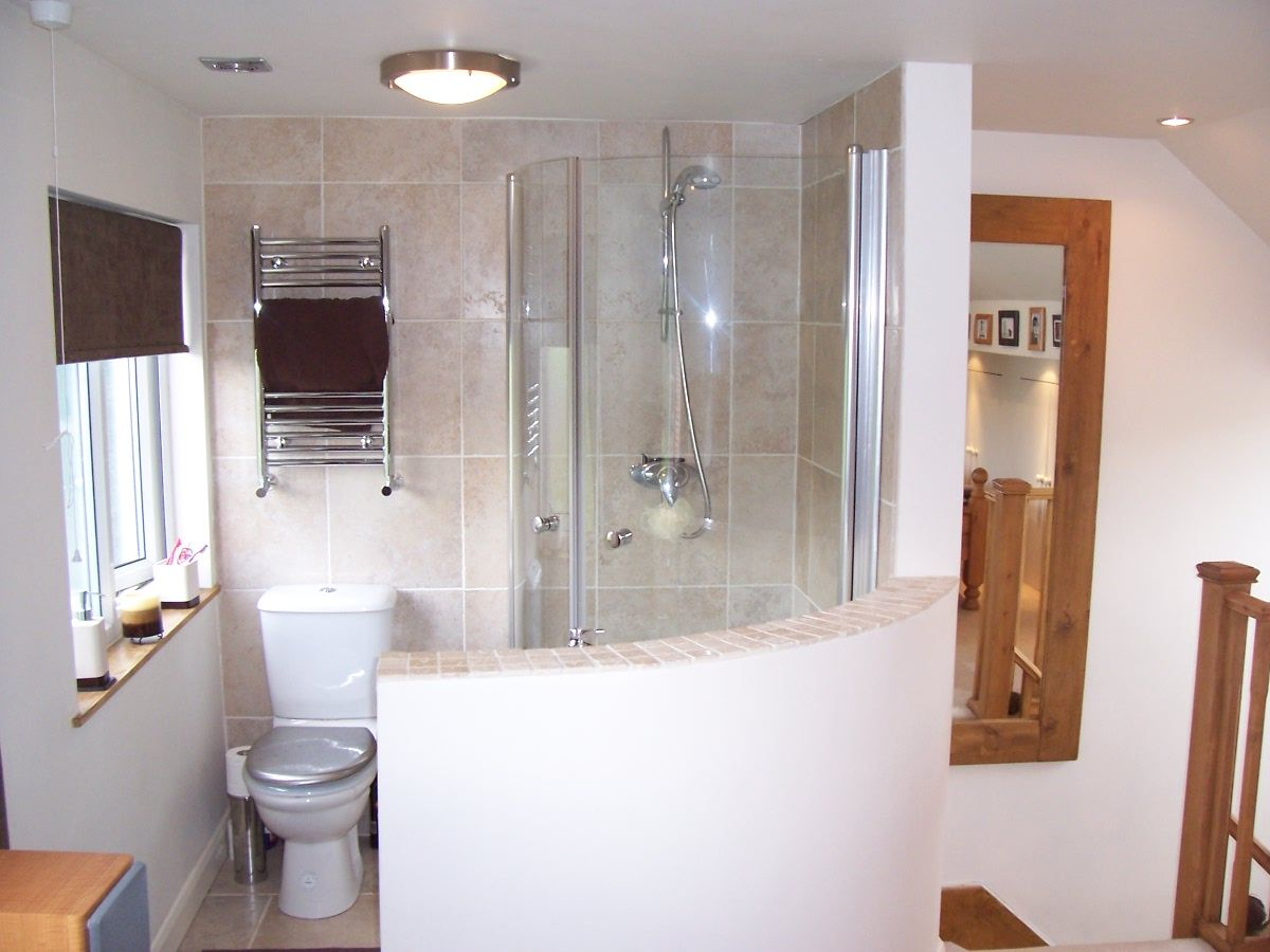 Open plan en suite google search home inspiration for Bathroom ideas loft conversion