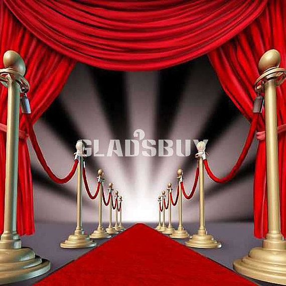 Stage Red Carpet Ft X Ft Wedding Backdrop Computer By Gladsbuy