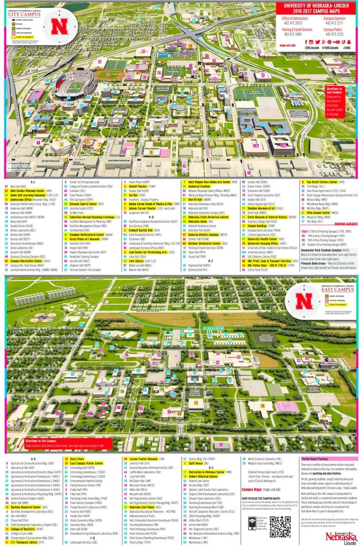 University Of Nebraska Lincoln Campus Map All Things University