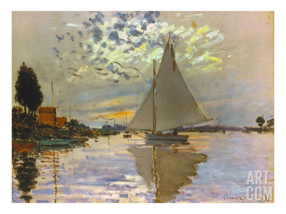 Monet Argenteuil Basin With A Single Sailboat 1874 Oil On Canvas