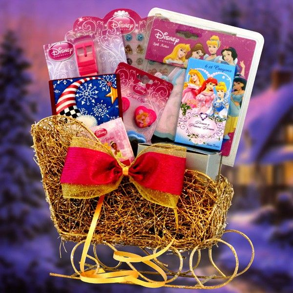 Princess christmas themed basket princess make your own for Make your own christmas gift baskets