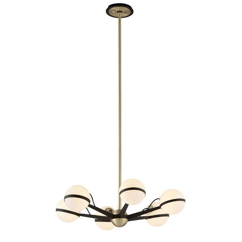 Troy lighting ace ace 6 light chandelier small f5303 in textured troy lighting ace ace 6 light chandelier small f5303 in textured bronze brushed brass from aloadofball Choice Image