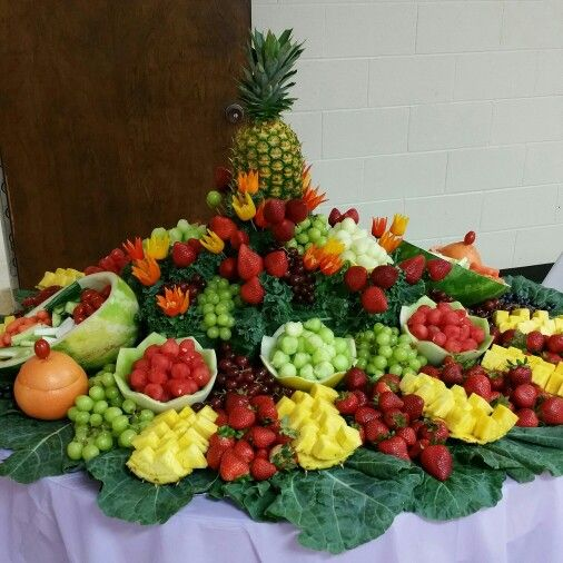 Fresh Fruit Decoration In 2019 Fruit Buffet Fruit Tables