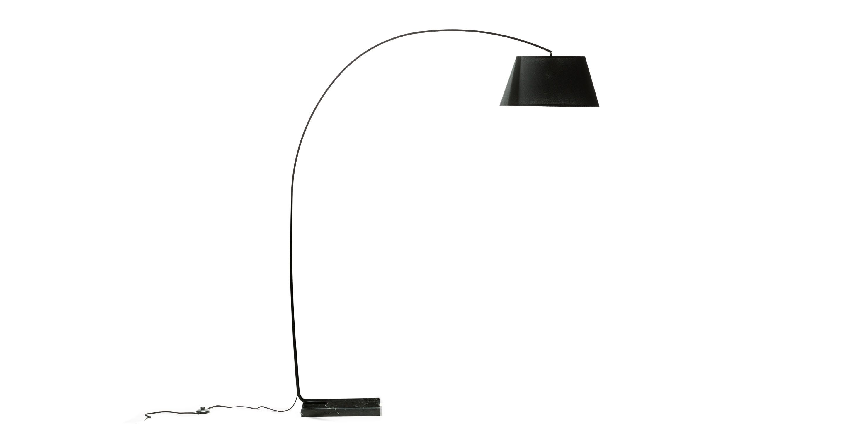 Black Floor Lamp With Marble Base Article Willo Contemporary Lighting Floor Lamp Black Floor Lamp Flooring