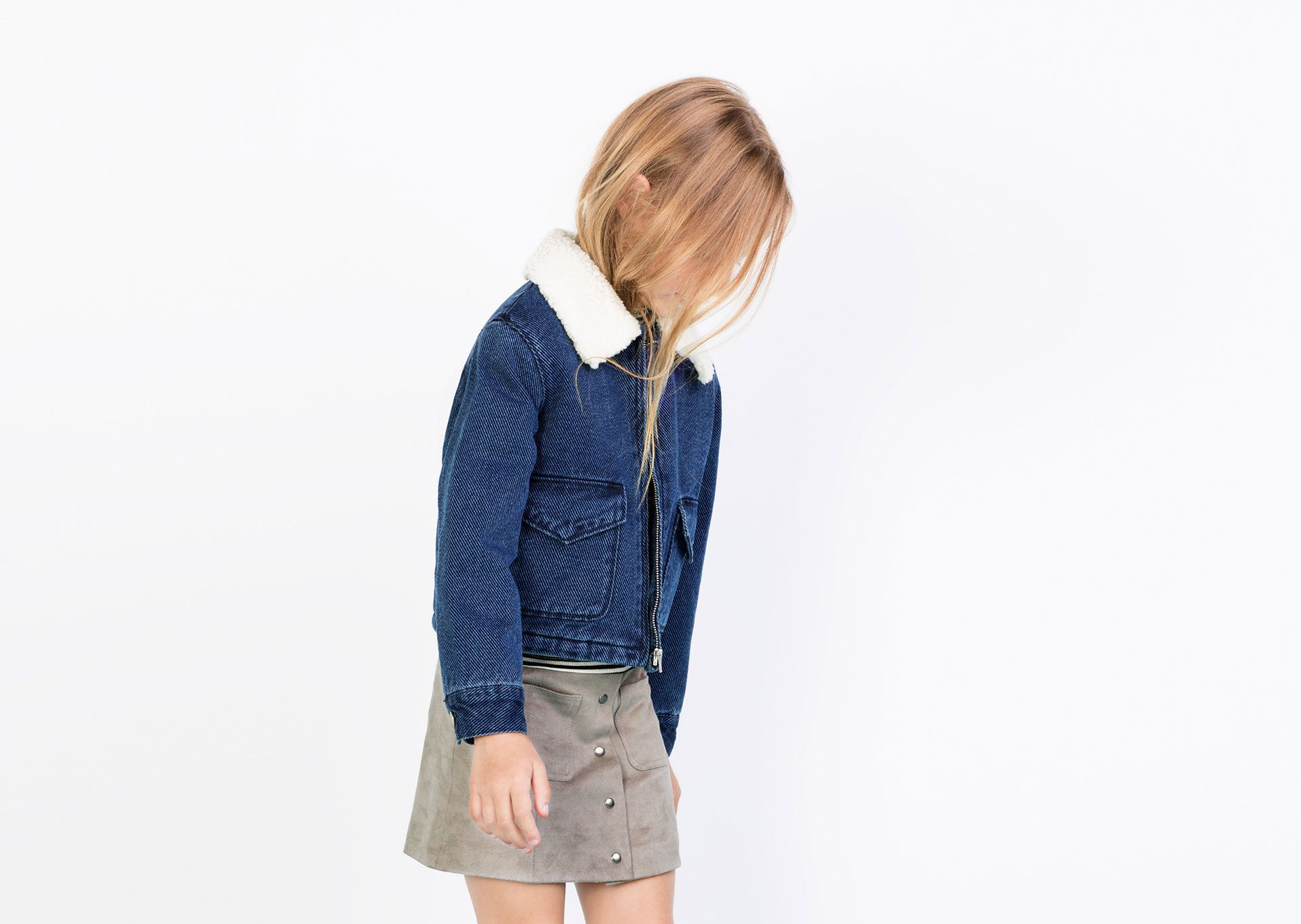 Kids Aw1516FashionGirls Denim Zara Fashion Jacket N80nwvm