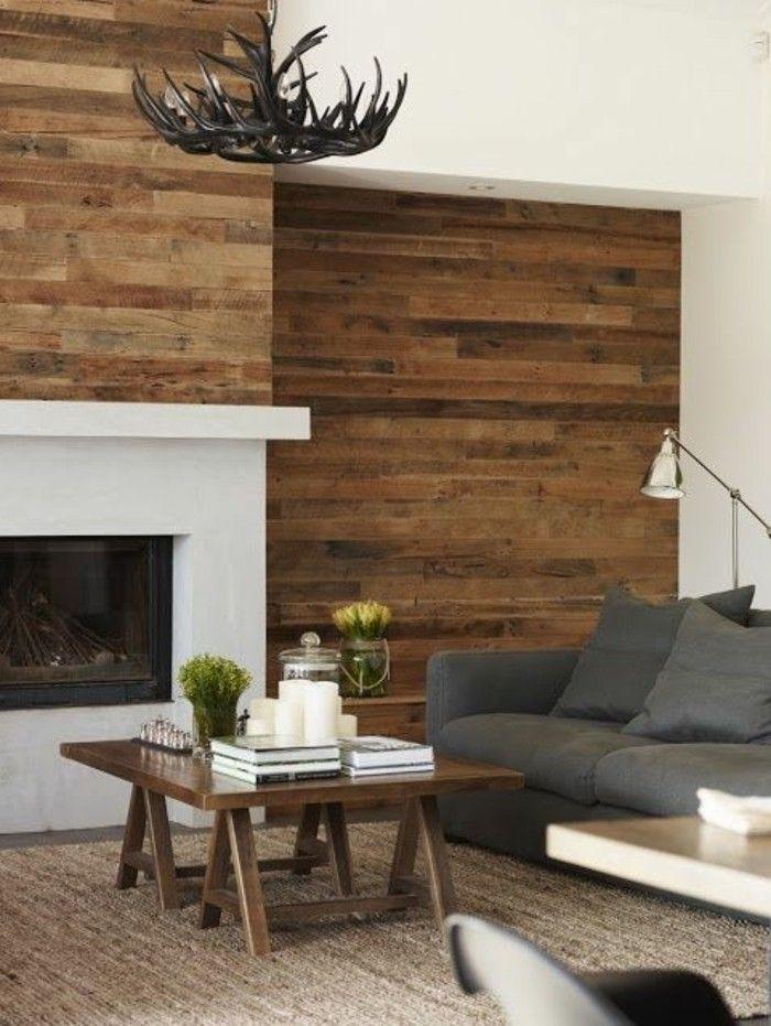 120 Wohnzimmer Wandgestaltung Ideen! | weißer Kamin, Wohnzimmer ...