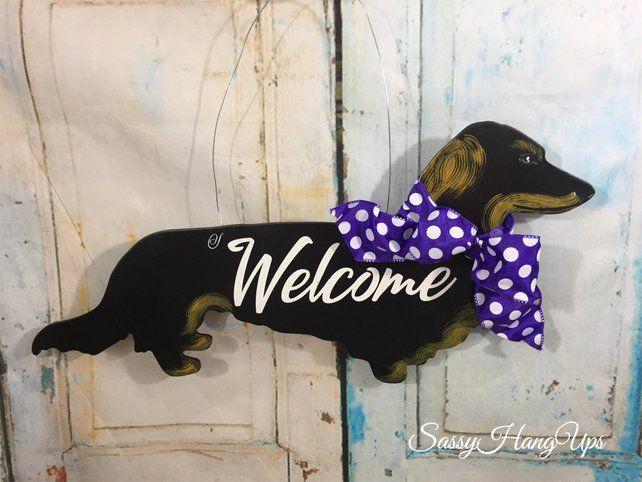 Long Haired Dachshund Door Hanger Dachshund Door Hanger Dog Door