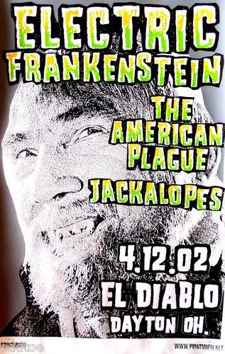 Electric Frankenstein Concert Poster S N Print Mafia American Plauge Limited