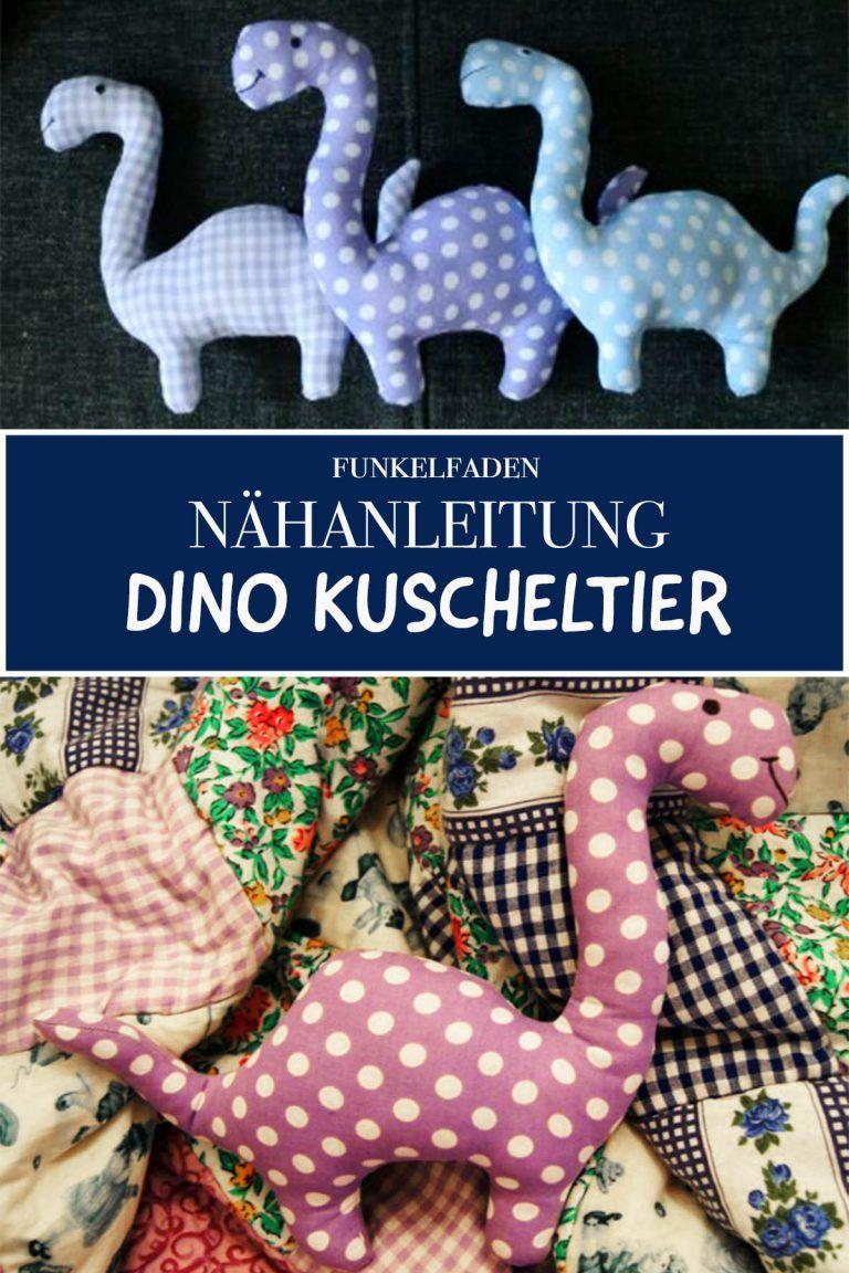 Anleitung und Schnittmuster Dino Kuscheltier / Freebook Einfach nähen #stuffedtoyspatterns