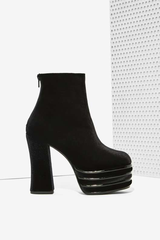 Jeffrey Campbell Velvet Platform Booties official for sale free shipping low cost X2HekqX