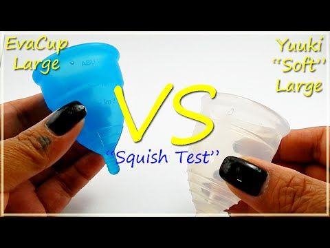 "EvaCup Lg vs Yuuki ""SOFT"" Lg ""Squish Test"" - #menstrualcup #EvaCup #YuukiCup #RHSquish"