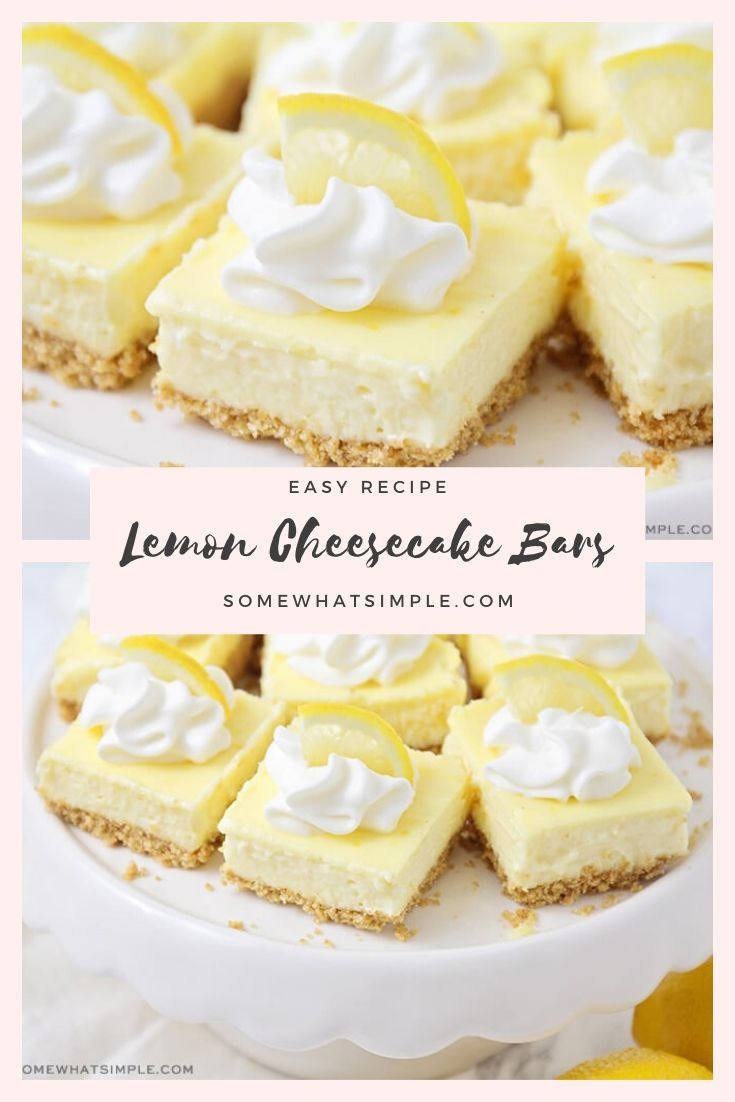 Photo of Easy Lemon Cheesecake Bars