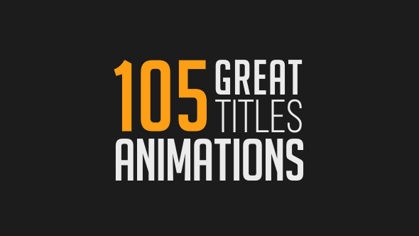 105 great title animations text animation and animation