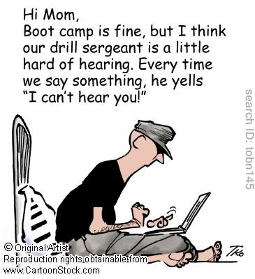 Hearing Related Comic Army Mom Usmc Mom Usmc Bootcamp
