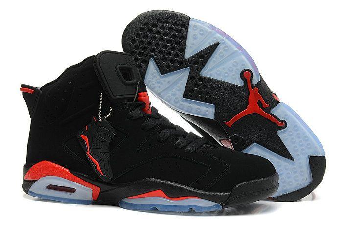 Authentic Cheap Air Jordan 6 Discount black all red shoe airjordans 6 vi  nike outlet shoe for sale