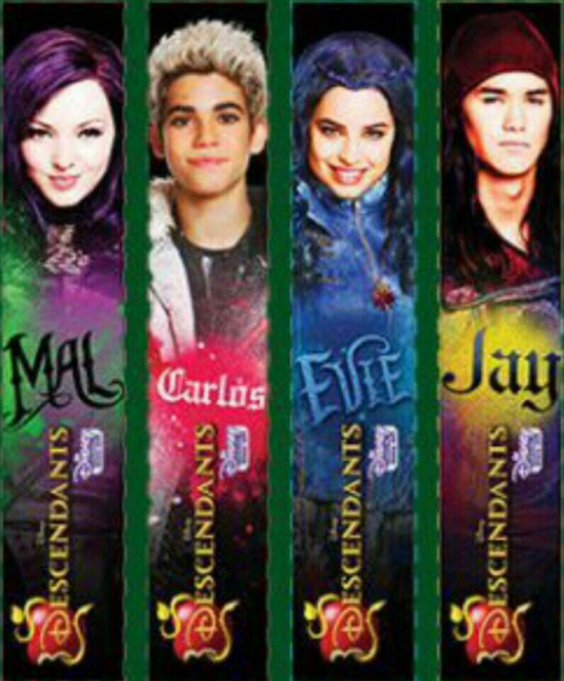 Cool bookmarks! Disney descendants, Disney channel