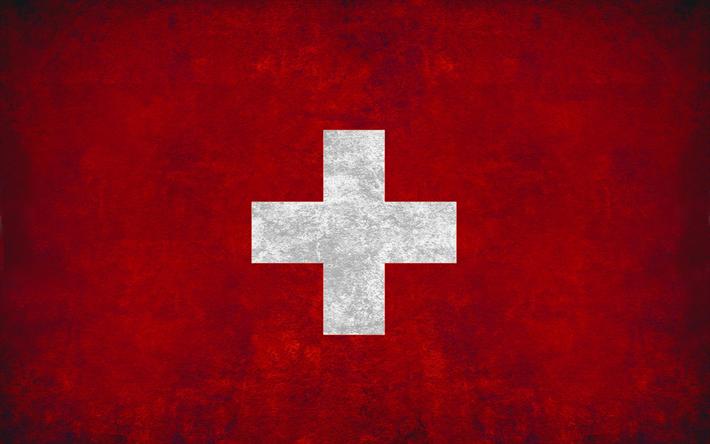 Download Wallpapers Flag Of Switzerland Grunge Style Wall Swiss Flag Creative Art Switzerland Switzerland Flag Switzerland Wallpaper Swiss Flag