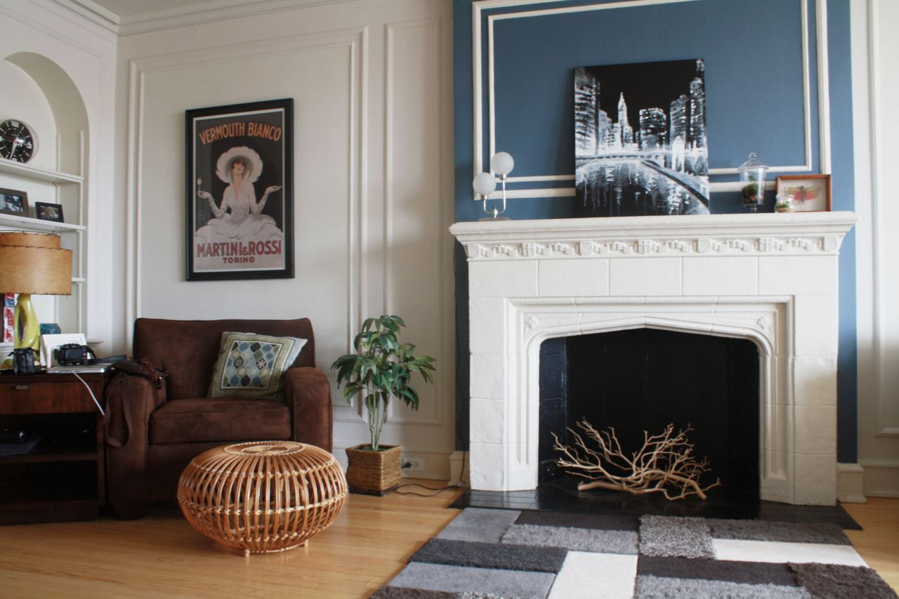 Fireplace accent wall House styles, Living room decor