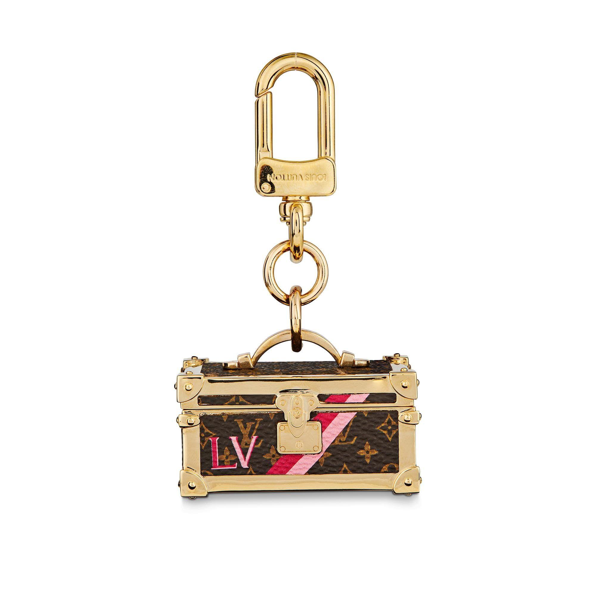 Flower trunk bag charm and key holder via louis vuitton