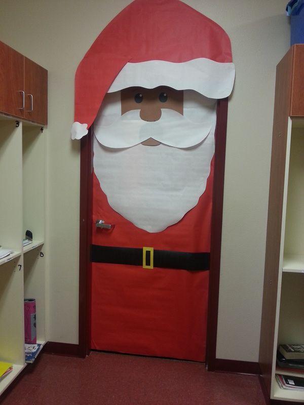 Santa Classroom Door Decoration - Christmas classroom door ...