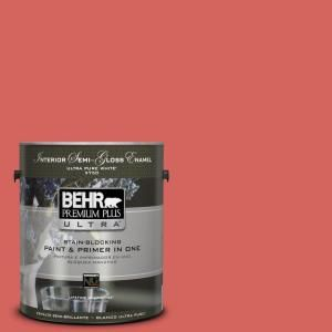 BEHR Premium Plus Ultra Home Decorators Collection 1 Gal. #HDC MD 05 Desert  Coral Semi Gloss Enamel Interior Paint And Primer In One 375301   The Home  Depot