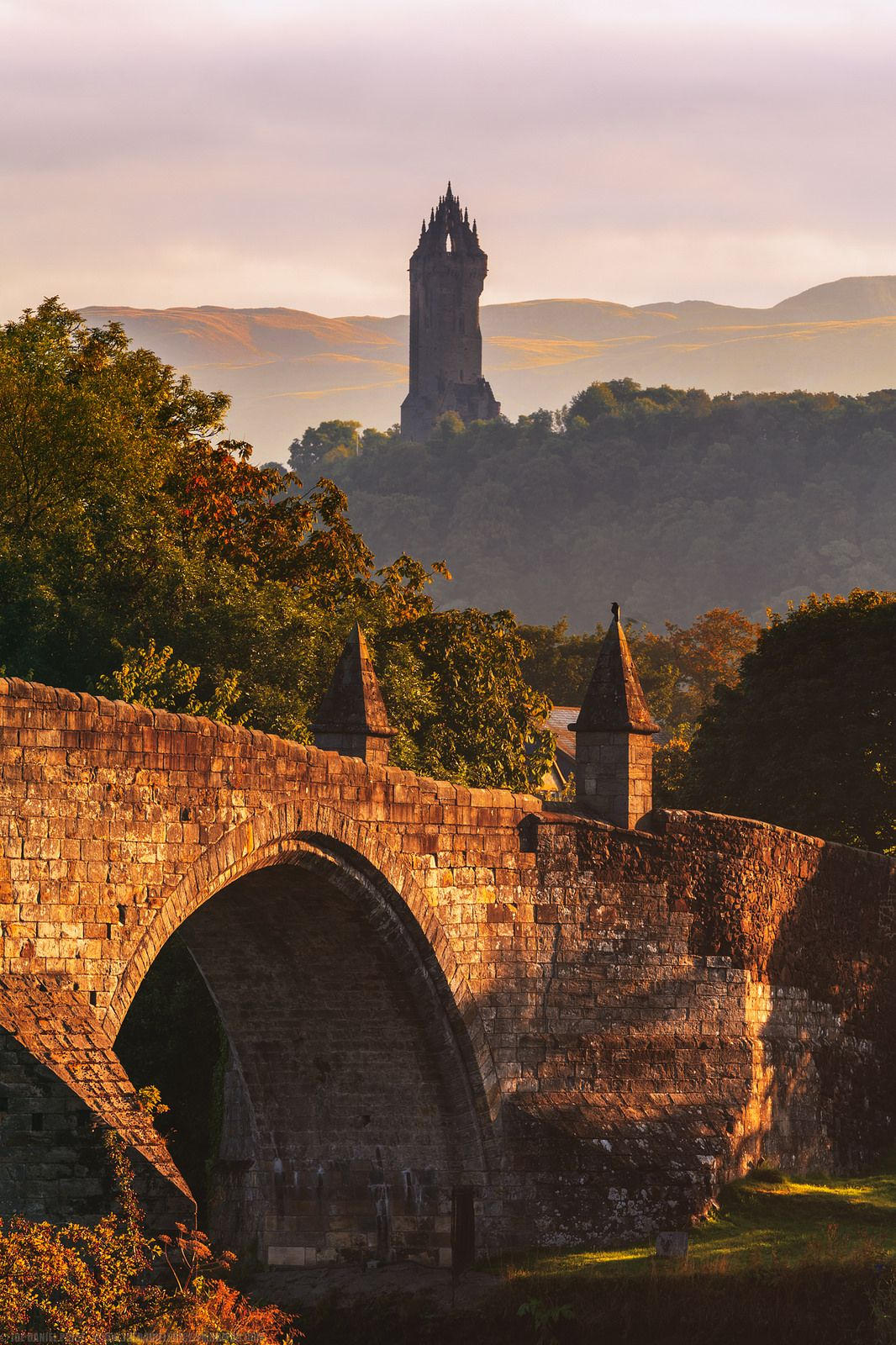 Hazy Day at The National William Wallace Monument, Stirling, Scotland