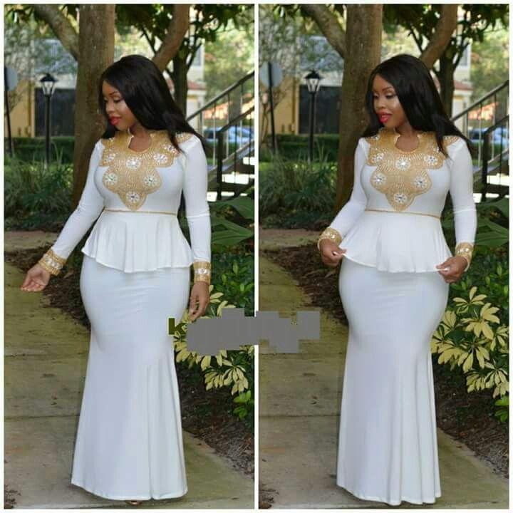 Curvy in white | ankara styles i like | Pinterest