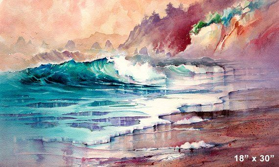 Sailor S Delight Seascape Watercolor Painting By Michael David